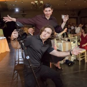 Austin and Trevor Filming Wedding Photographer Filmmakers Brevard Zoo Reception